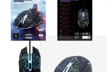WOOX WG2771 Wired Optical Gaming Mouse Black
