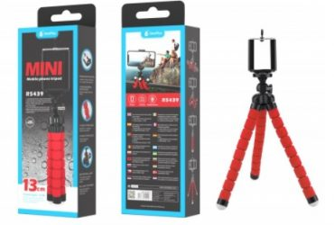 Brand New Selfie Stick/Stand with Flexible Tripod 360º, 13cm, Red | Model: R5439