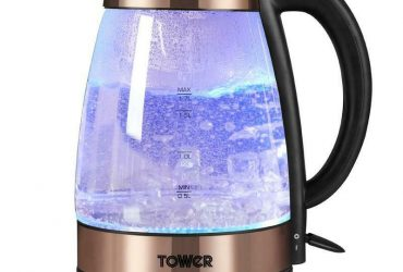Brand New Tower T10021 Rapid Boil Illuminated Glass Jug Kettle – New Item Box Damaged