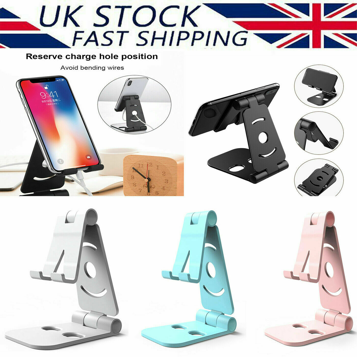 New Universal Adjustable Mobile Phone Holder Stand Desk Foldable For iPhone iPad